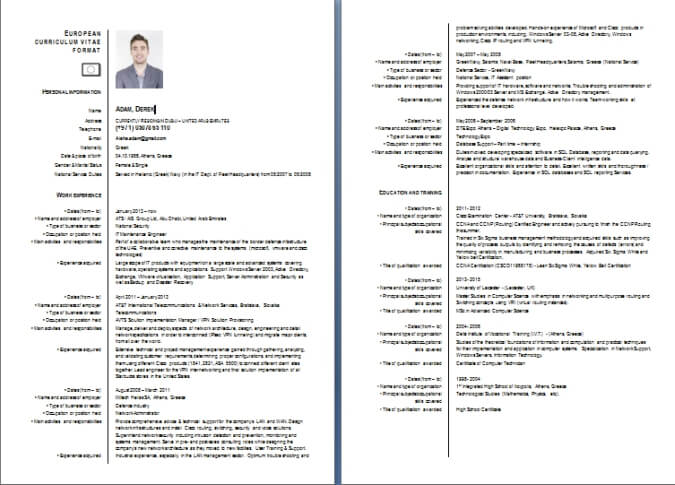 CV Writing Sample / Templates Dubai-ForeverCom