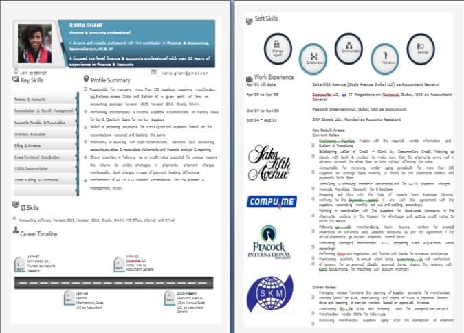 Accountant Resume CV For ACCA, CPA, CFA, CMA, EA, CIA - Resume For Accountant Sample