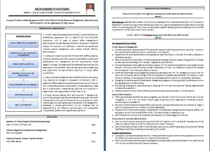CV Writing Sample / Templates Dubai-ForeverCom - resume writing formats