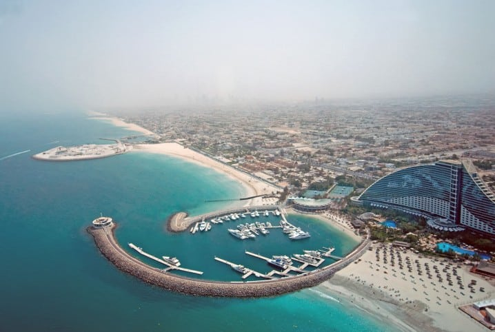 3d Wallpaper Online Shopping Map Of Umm Suqeim And The Jumeirah Beach Hotel In Dubai