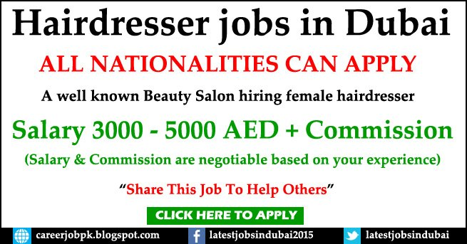 Hairdresser Jobs in Beauty Salon Dubai