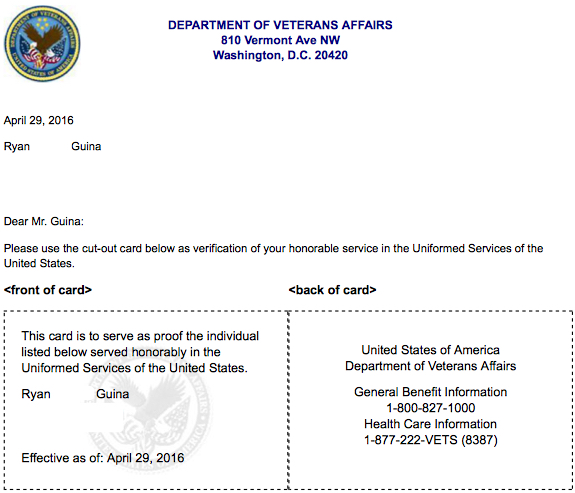 Veterans have other options for proof of service - Dubois County