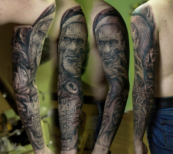 game of thrones old character tattoo sleeve by kazhan best tattoo ideas. Black Bedroom Furniture Sets. Home Design Ideas