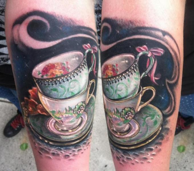 two tea cups tattoo by johnny smith art best tattoo ideas. Black Bedroom Furniture Sets. Home Design Ideas
