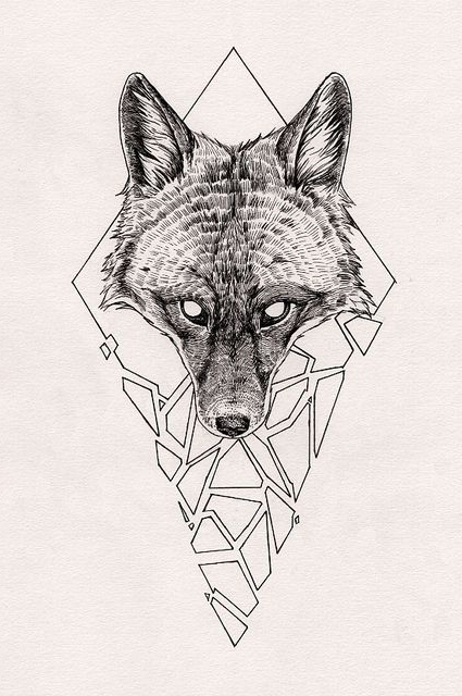 Tattoo Sketching Wolf Head Tattoo Sketch