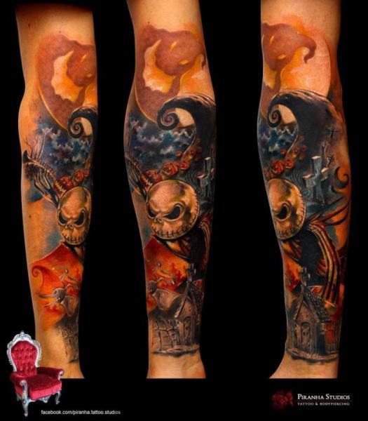 Piranha skeleton tattoo - photo#11