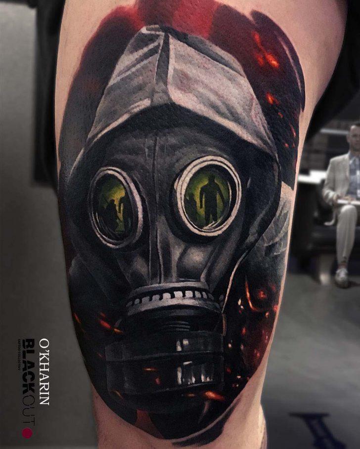 Steampung Girl Holding Skull Wallpaper 10 Intimidating Gas Mask Tattoo Designs