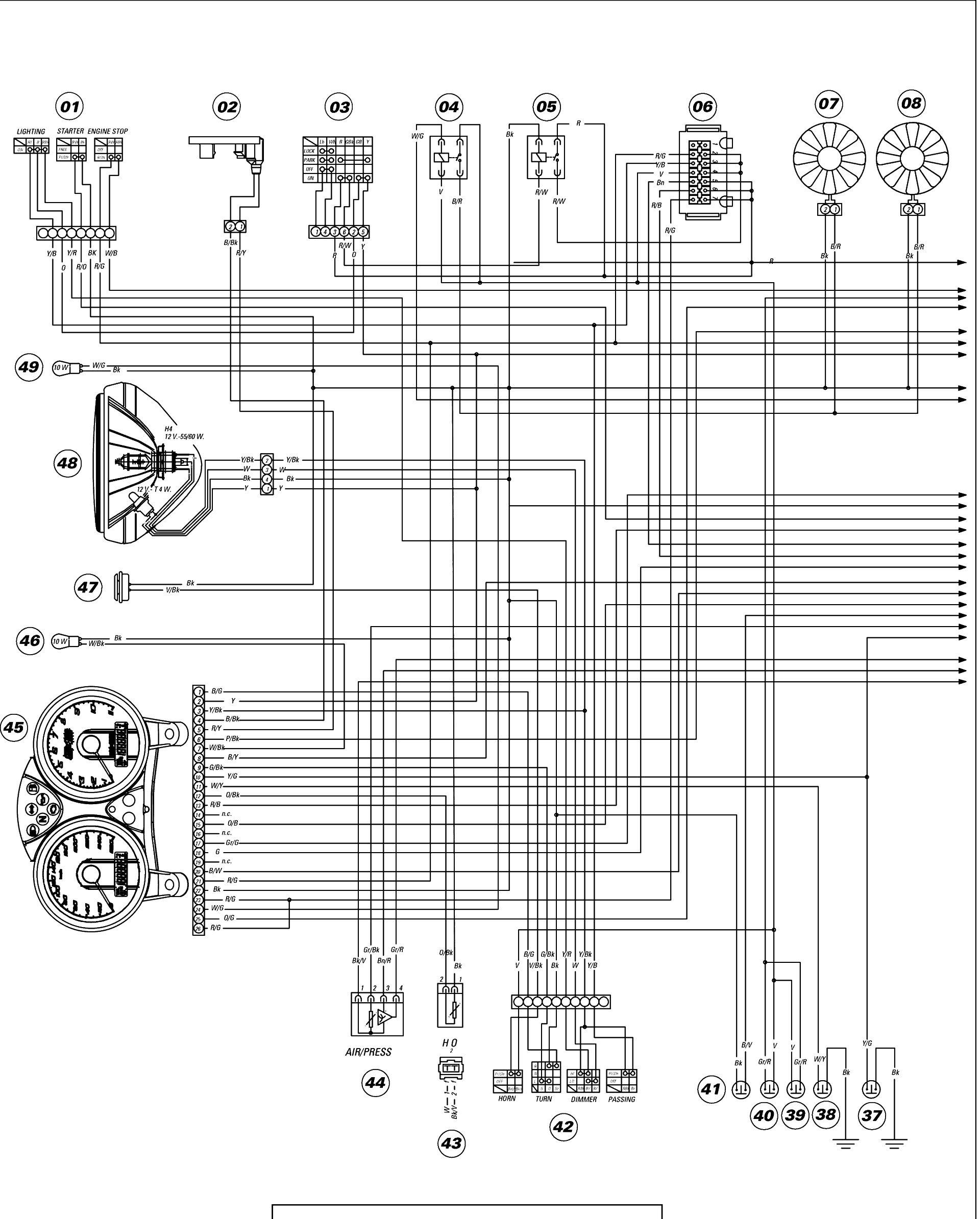 Magnificent Ducati Monster S4R 2004 Wiring Diagram Wiring Diagram Data Schema Wiring 101 Cranwise Assnl