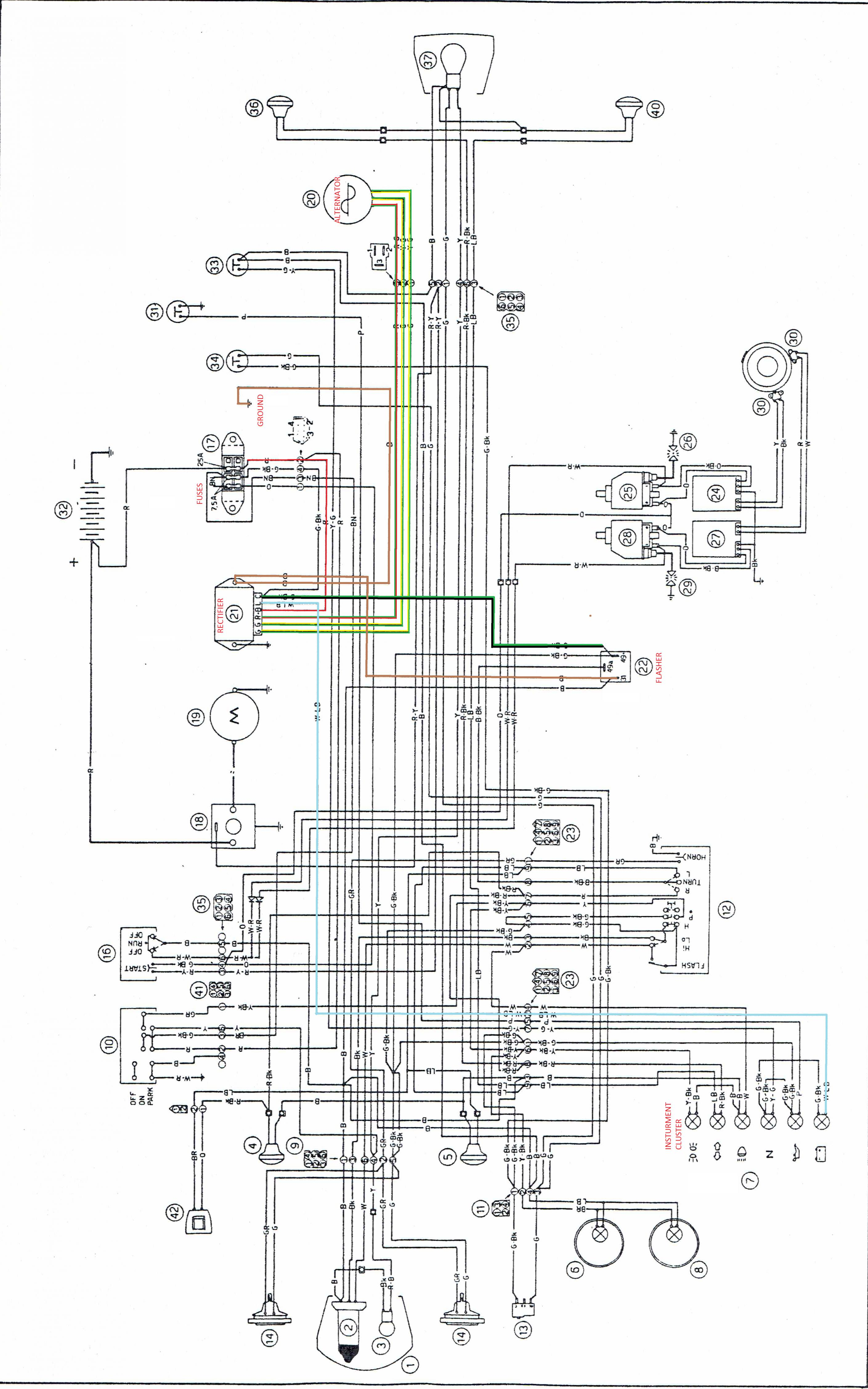 7 pin 11 pole stator gy6 wiring schematic