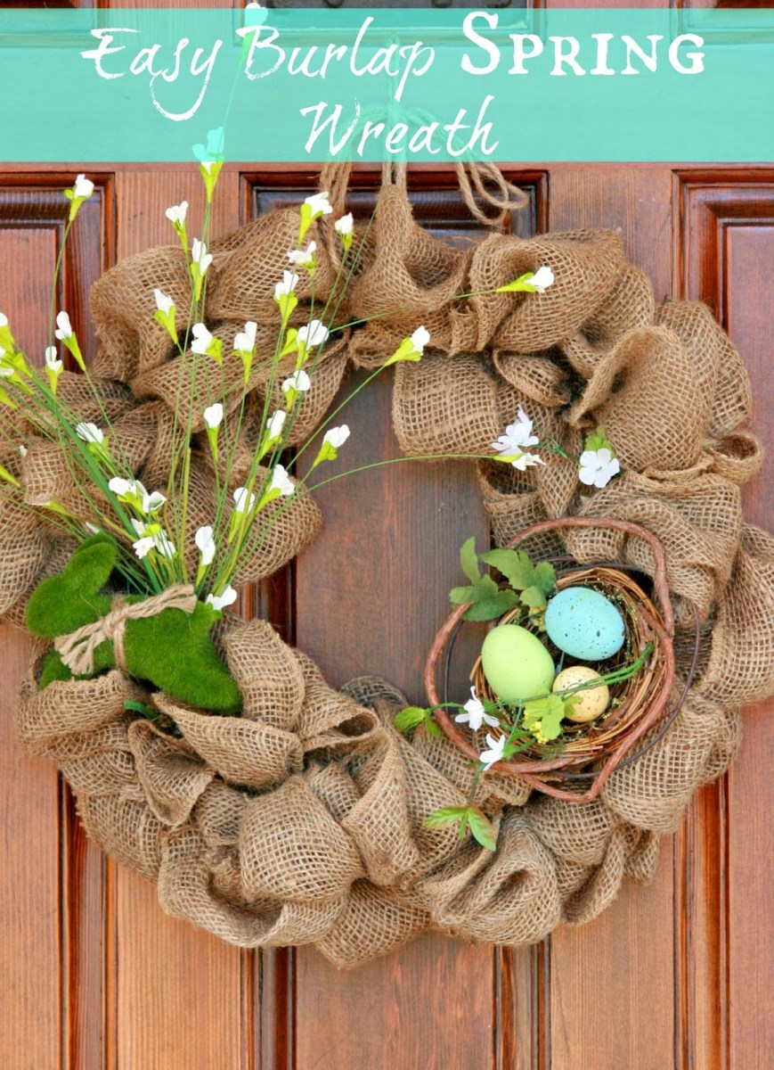 The Easiest Burlap Wreath You will ever make!