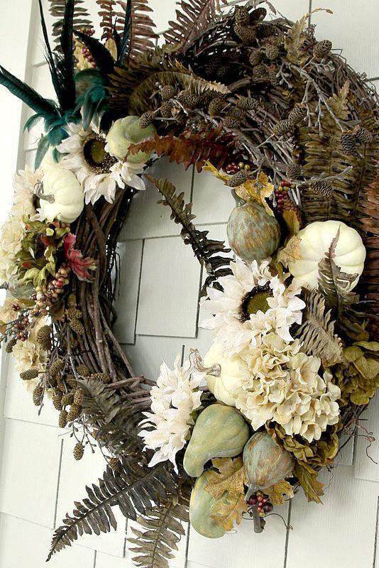 Diy Rustic Luxe Fall Wreath Duke Manor Farm