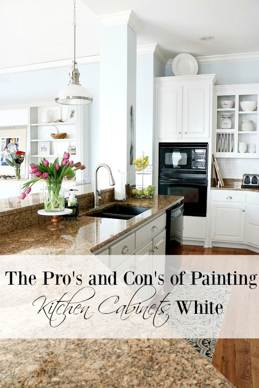 Pros and Cons of Painting Kitchen Cabinets White - Duke Manor Farm - white kitchen cabinets