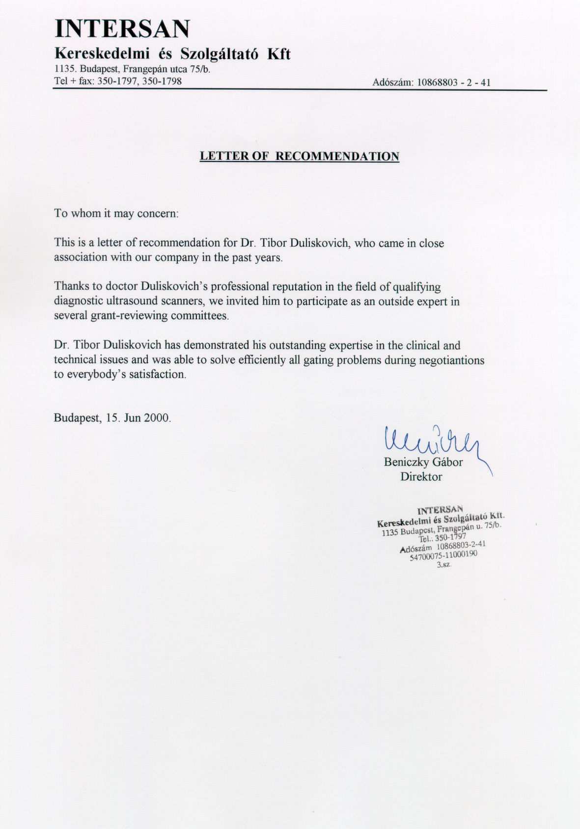Sample Letter Of Recommendation For Physician Reference Letter