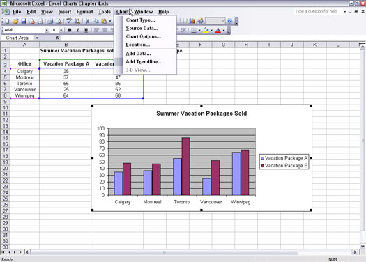 Using Columns and Bars to Compare Items in Excel Charts - dummies