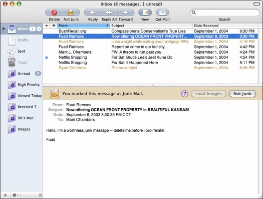 Dealing with Junk Mail in Mac OS X - dummies