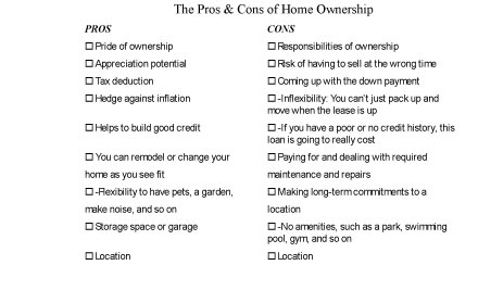 The Pros and Cons of Owning Your Own Home - dummies