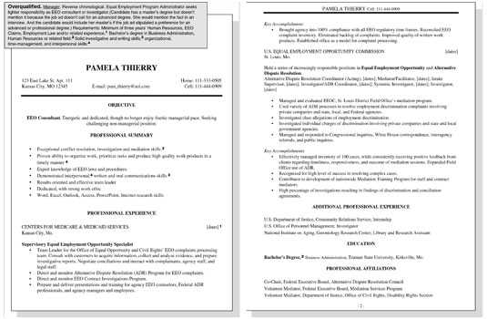 Sample Resume for an Overqualified Worker - overqualified for the job