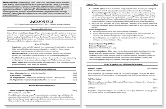 Sample Resume for a Worker with an Employment Gap - dummies