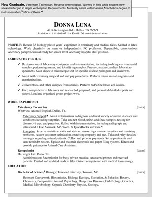 Sample Resume for a New Graduate - dummies - sample qualifications for resume