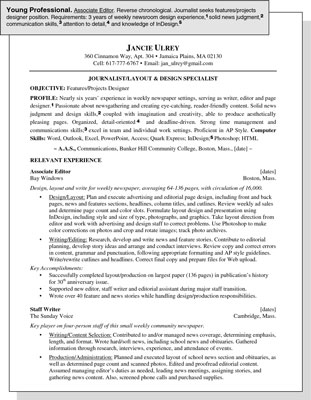 Sample Resume for a Young Professional - dummies