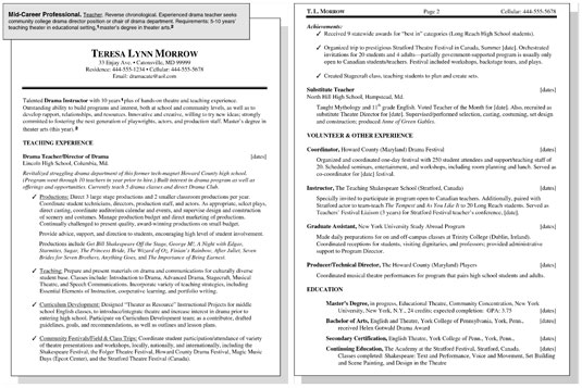 mid level career resume examples