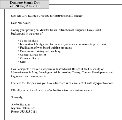 Sample E-Mail Cover Notes that Introduce Resumes
