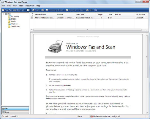 How to Send and Receive a Fax in Windows 7 - dummies - fax document