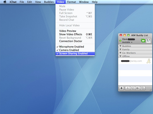 How to Share Screens Remotely on Mac OS X Snow Leopard - dummies