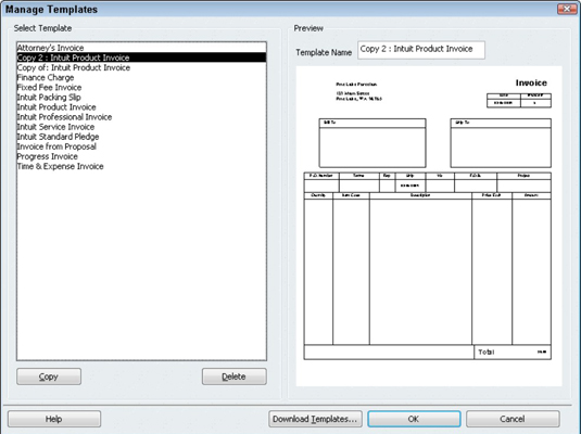 How to Create a Customized Invoice Form in QuickBooks 2010 - dummies