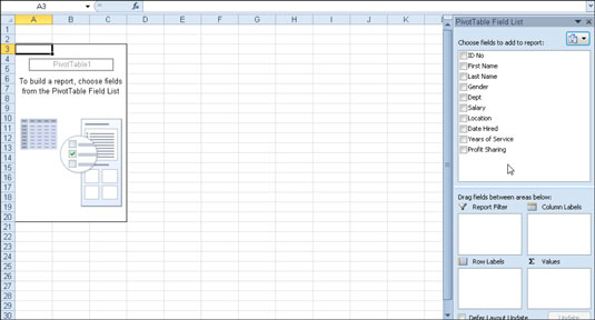 How to Create a Pivot Table in Excel 2010 - dummies