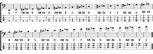 Bass Guitar Music Note Names And Values Dummies
