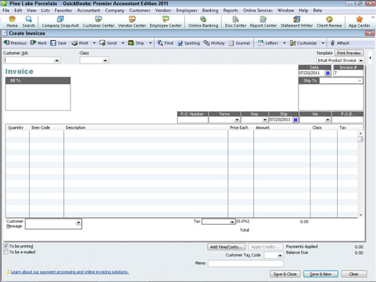 How to Invoice a Customer with QuickBooks 2011 - dummies