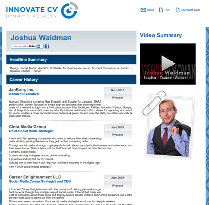 Innovate CV Can Innovate Your Video Résumé - dummies