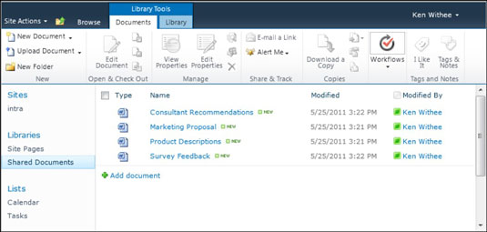 Manage Content with SharePoint Online Document Libraries - dummies