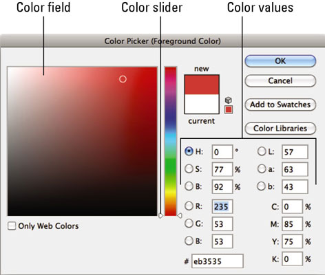How to Use Color Picker in Photoshop CS6 - dummies