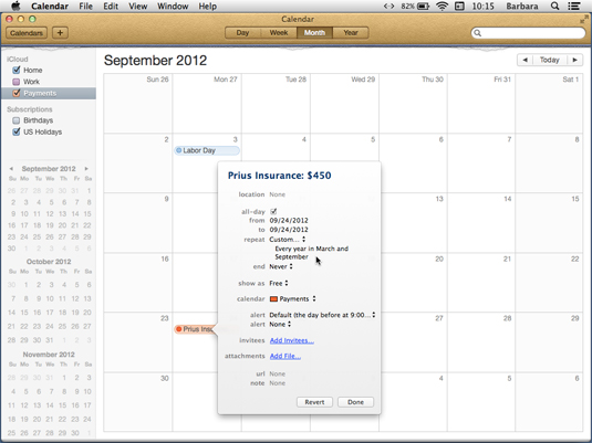 Using Calendar and Reminders in iCloud - dummies