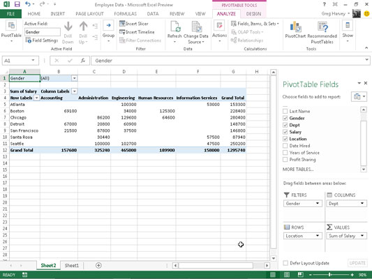 How to Manually Create a Pivot Table in Excel 2013 - dummies