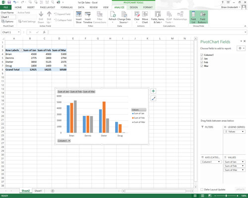 How to Move Pivot Charts to Separate Sheets in Excel 2013 - dummies