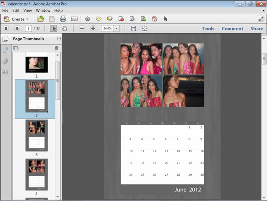 How to Make a Photo Calendar in Photoshop Elements 11 - dummies