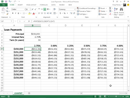 The PMT Function in Excel 2013 - dummies