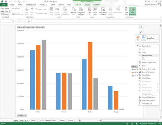 How to Save a Customized Chart as an Excel 2013 Template - dummies