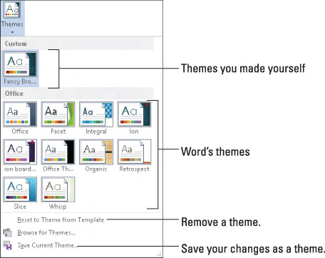 How to Use Themes in Word 2013 - dummies