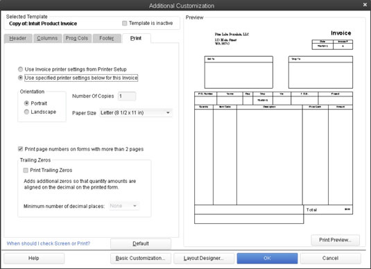 Choose a QuickBooks 2013 Invoice Template to Customize - dummies