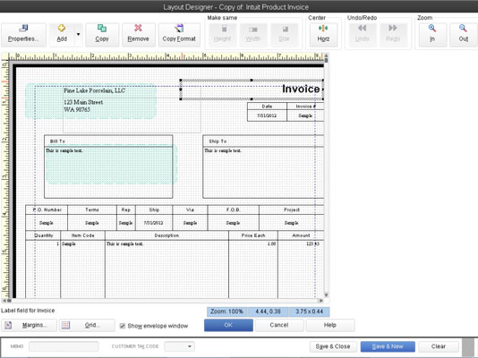 Customize QuickBooks 2013 Invoices with the Layout Designer Tool
