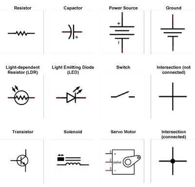 Arduino Projects Schematic Symbols - dummies
