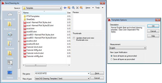 How to Create a Template in AutoCAD 2014 - dummies - how to template
