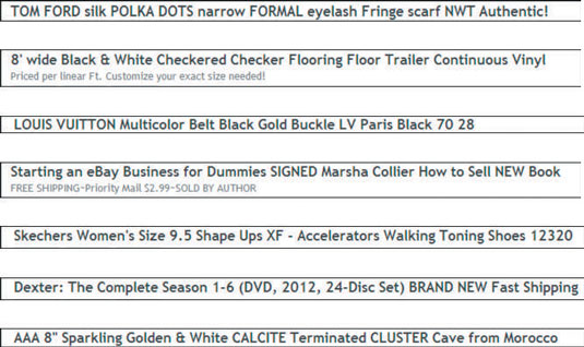 Create the Perfect Title for Your eBay Item - dummies