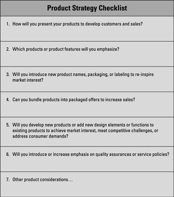 Business Marketing Product Strategy and Value Proposition - dummies