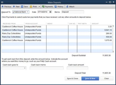 How to Make Bank Deposits with QuickBooks - dummies