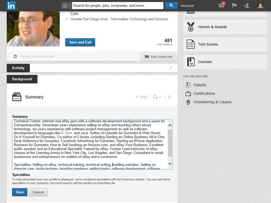 How to Update Your LinkedIn Profile Summary and Basic Information